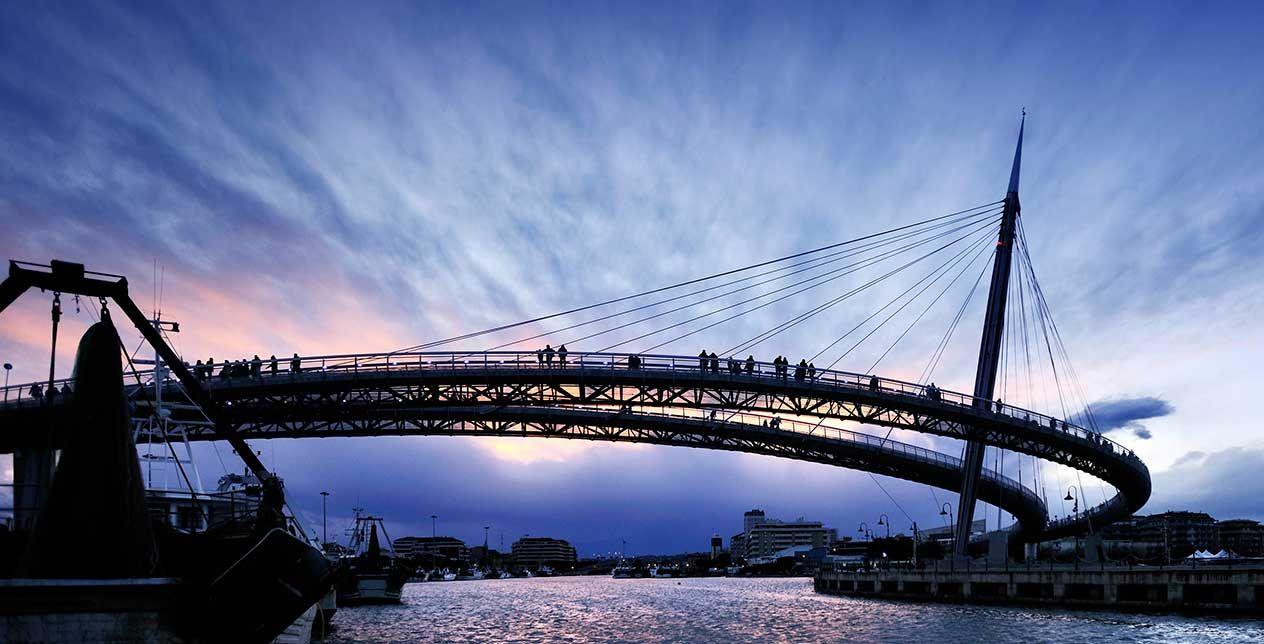 Ponte del mare pescara referenze stahlbau pichler for Ponte sopra i disegni del garage